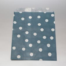 White dots navy blue Party bitty bags Set of 25/ Άσπρο πουά μπλε χαρτινα σακουλακια Σετ των 25